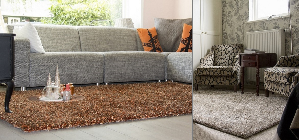 Popular, trendy high pile rug. The finishing touch in any living environment.
